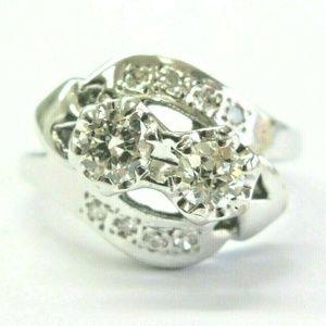 Jewelry - Vintage Twin Old European Cut Diamond White Gold R